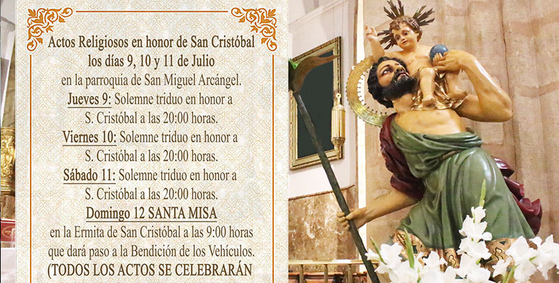 Actos en honor a San Cristóbal
